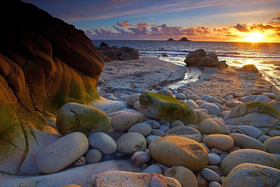 Dinosaur Egg Beach, Porth Nanven, Cornwall