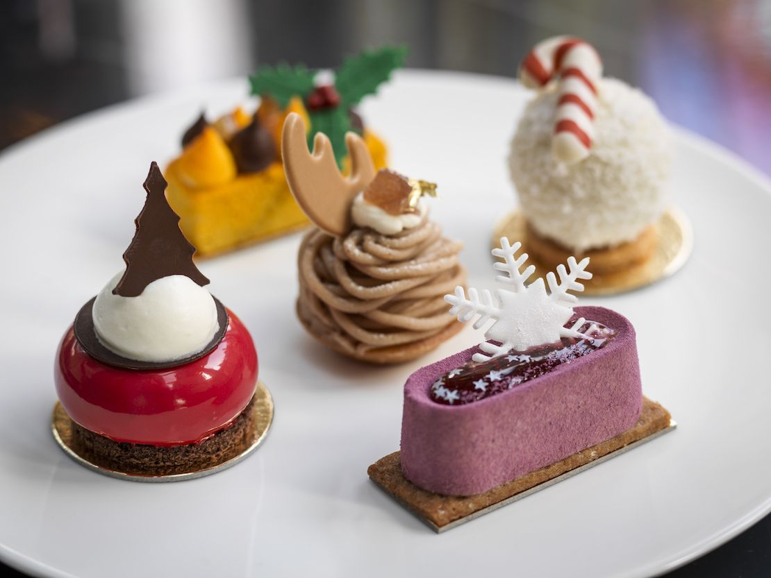 Festive cakes at The Connaught, London