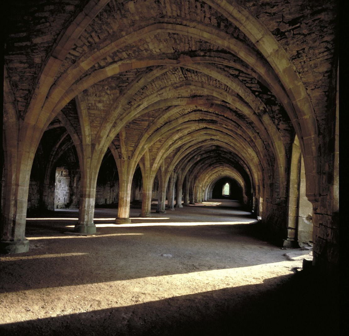 Inside Fountains Abbey, Yorkshire