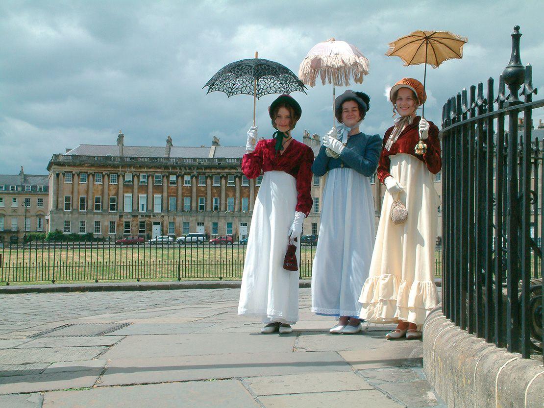 Jane Austen costumes, Bath, England