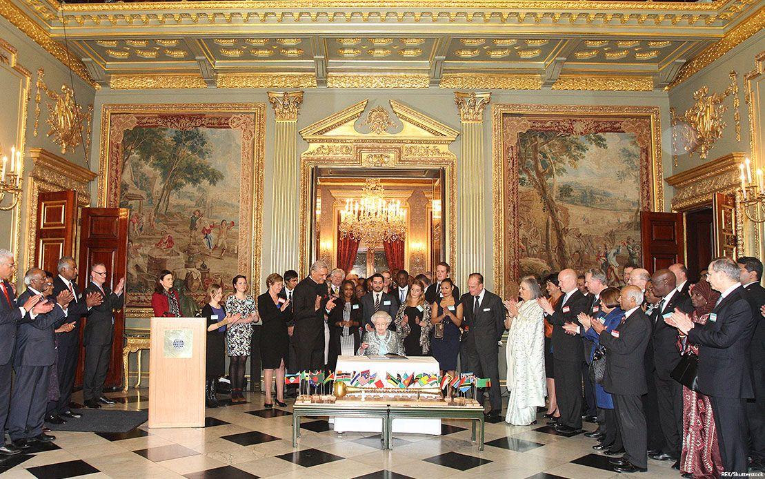 The Queen at Marlborough House, London