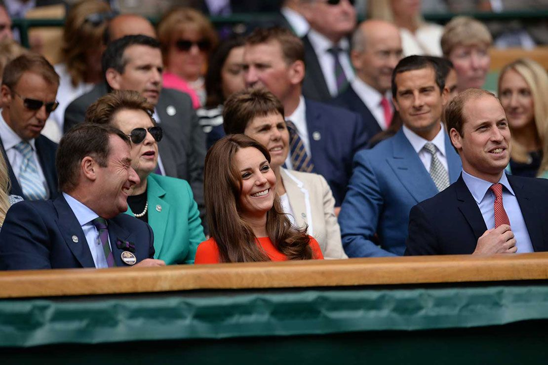 Prince William and the Duchess of Cambridge in the Royal Box at Wimbledon