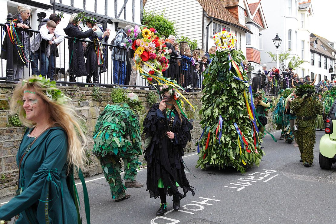 The Jack in Green festival, Hastings, England
