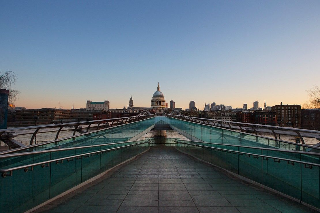 Millennium Bridge and St Paul's Cathedral, London