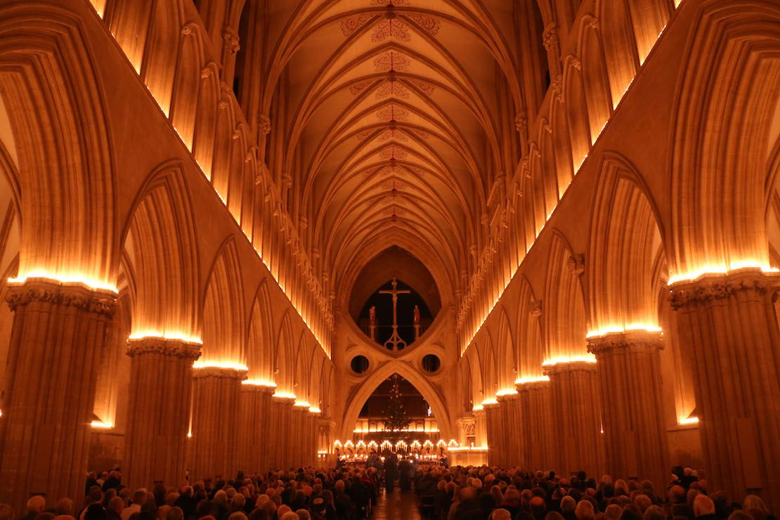 Wells Cathedral by candlelight