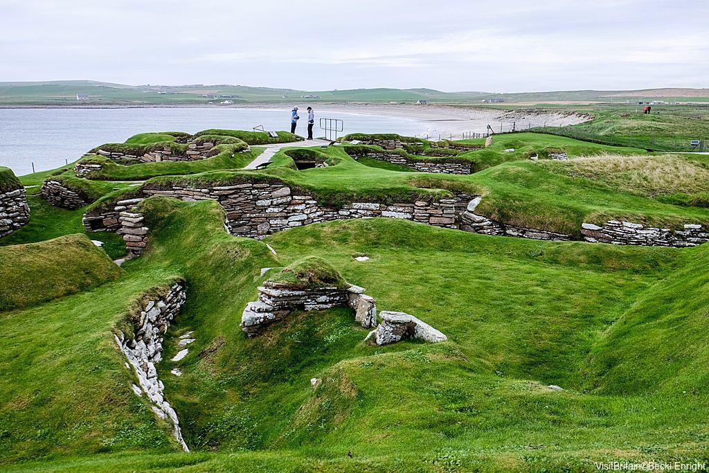 One of Britain's Archelogical highlights, Skara Brae – Orkney – Scotland. Credit to VisitBritain©Becki Enright