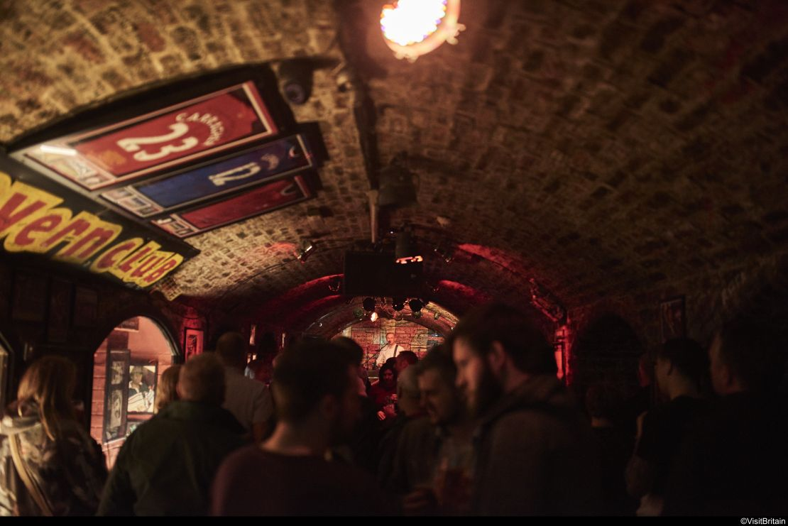 Interior view of The Cavern Club, Liverpool, UK.