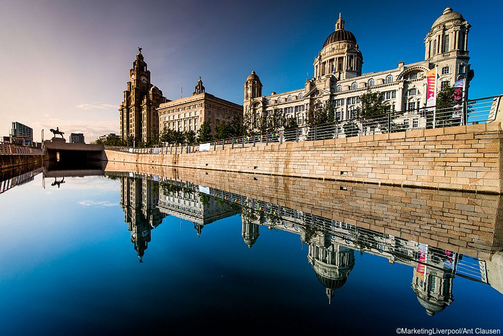 Historic buildings along Liverpool canal. Credit to MarketingLiverpool/Ant Clausen