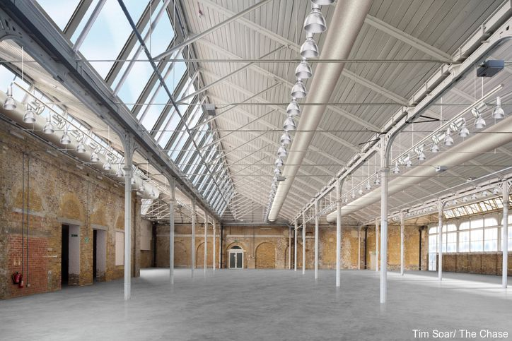 Interior of new cultural hub, Woolwich Works, coming to London 2022. Credit to Tim Soar/ The Chase