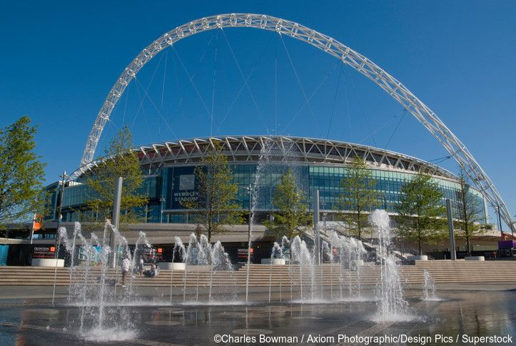 Wembley Stadium, with its 133 metre iconic arch, reopened in 2007 and is Britain's largest sporting venue.