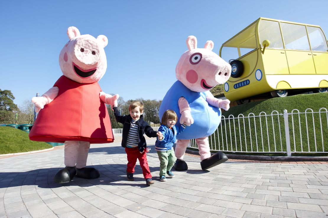 Peppa and George at Peppa Pig World, England