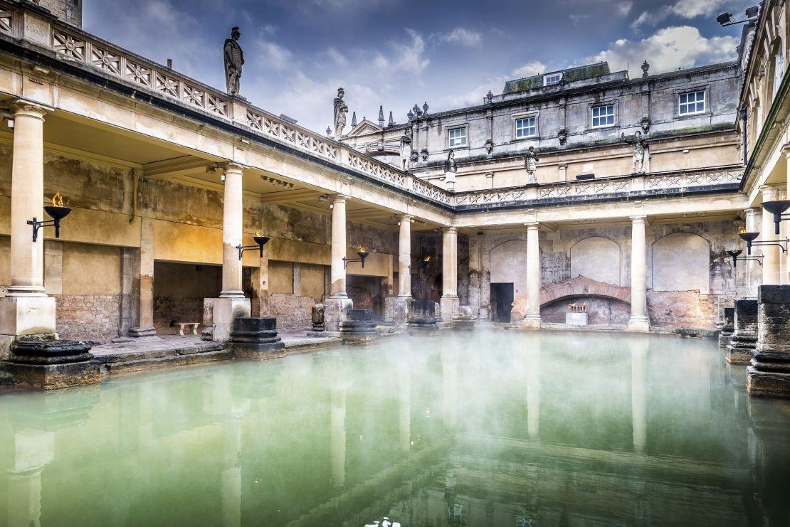 O Roman Baths, Bath, Inglaterra