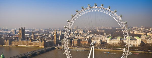 London Eye and the Houses of Parliament