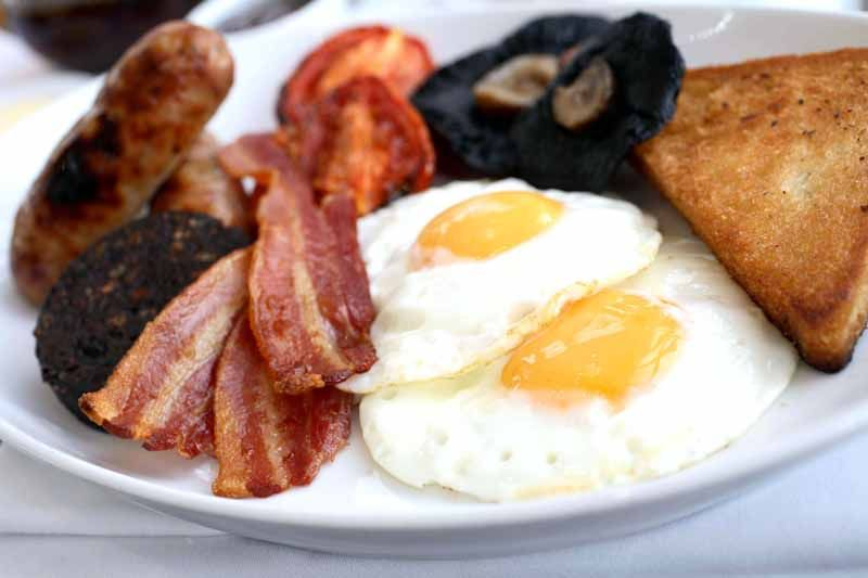 Full English breakfast at Roast