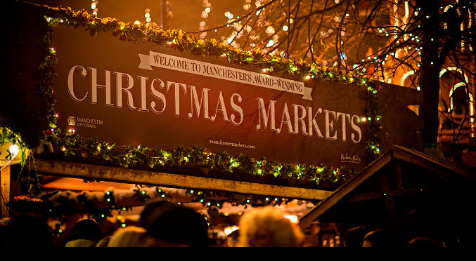 Manchester Christmas Market sign