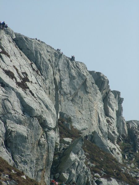 Climbers on Holyhead mountain