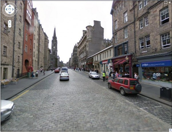 Royal Mile, Edinburgh - Google Street View