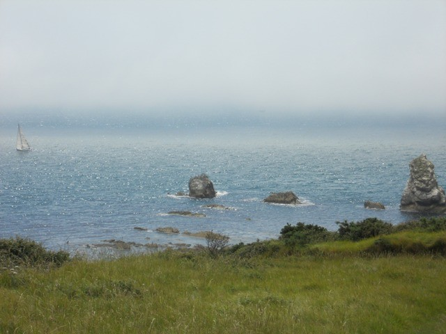Mupe Rocks against the clearing mist