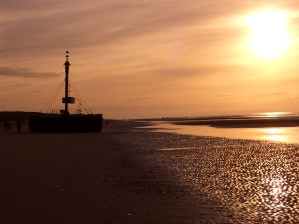 Late afternoon sun at Formby Point, Merseyside