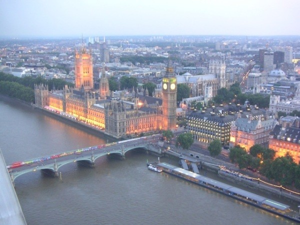 Sunset from the London Eye