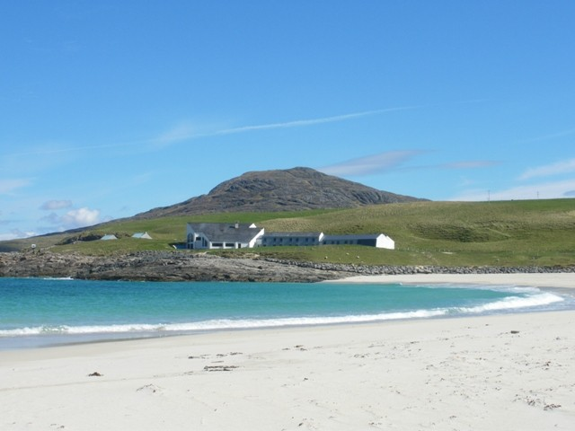 Sandy bay on the Isle of Barra, Scotland