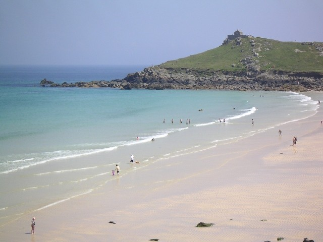 Summer day on the beach at St Ives, Cornwall