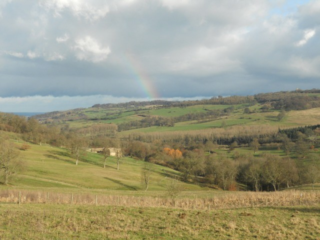 Rainbow in the Cotswolds
