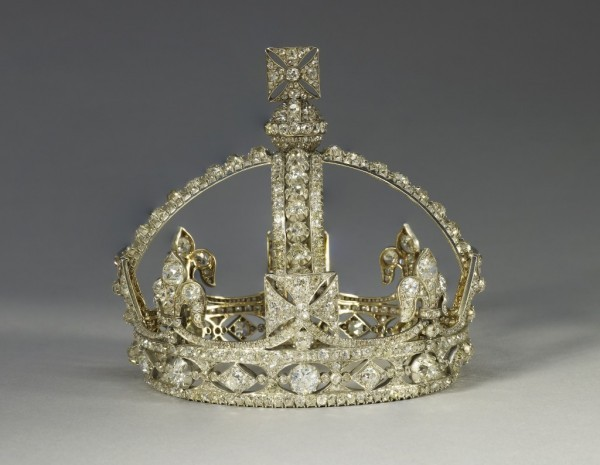 Queen Victoria's Small Diamond Crown, image courtesy of The Royal Collection.