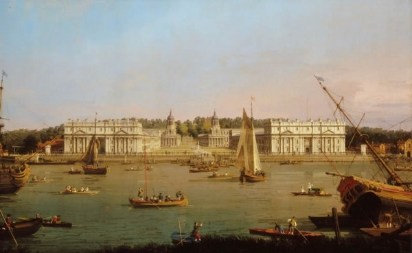Greenwich Hospital from the north bank of the Thames, Canaletto, 1750 – 52 © National Maritime Museum, London