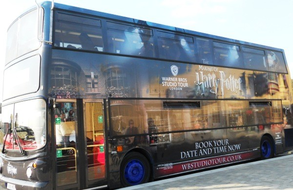 Get in the mood with the Harry Potter bus from central London