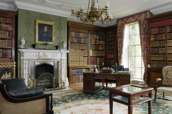 The Library at Hughenden Manor, Buckinghamshire