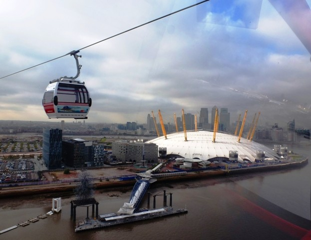 O2 arena from Emirates Air Line