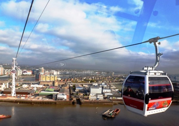 Royal Docks, Excel Centre and Emirates gondola