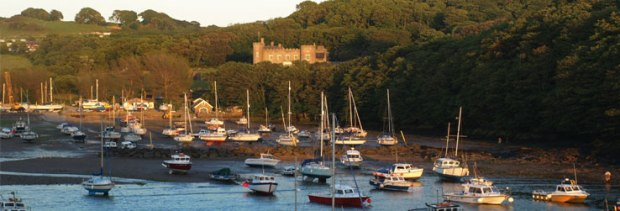 Watermouth Cove and Castle - Devon sunset by watermouthcastle.com