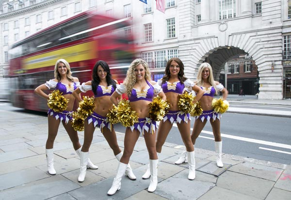 Minnesota Vikings Cheerleaders on Regent Street