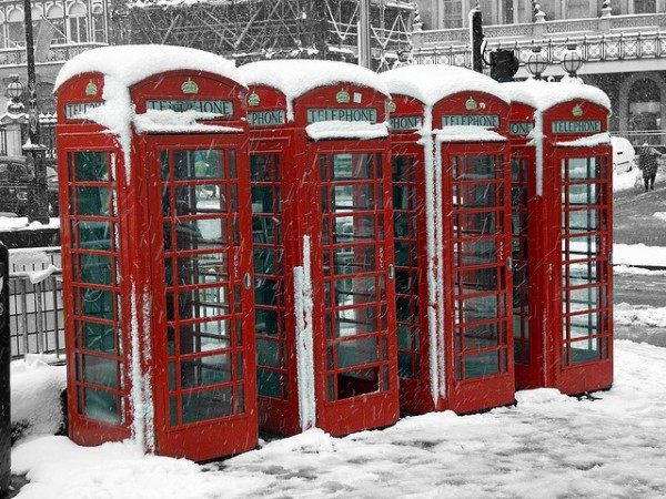 Phone boxes © JB London on flickr