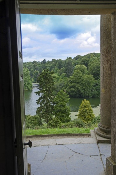View through Temple of Apollo doorway, Stourhead, England © iStock/ajfletch