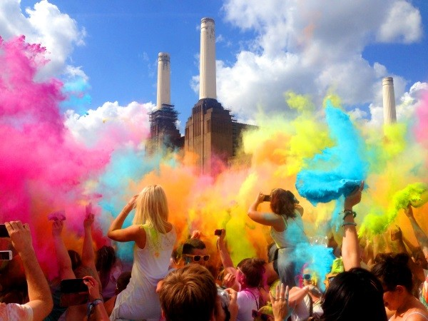 Holi One Festival at Battersea Power Station, London, August 2013