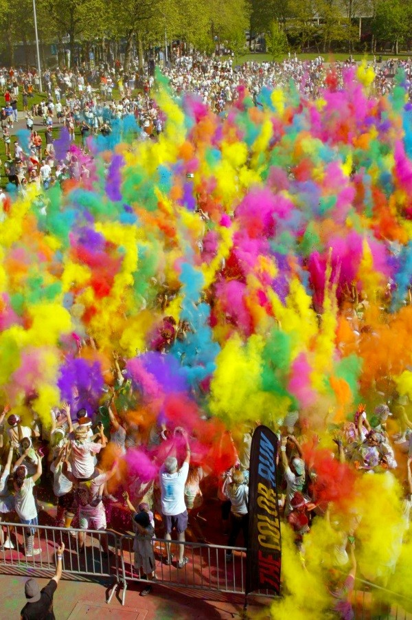 Revellers at The Color Run, London