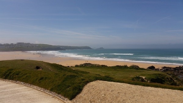The view from Headland Hotel, Newquay, Cornwall