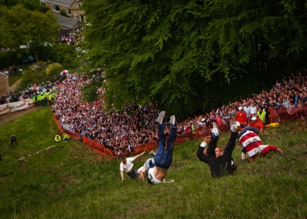 Cheese Rolling participants having a grand ol' time. Photo by Will De Freitas Flickr