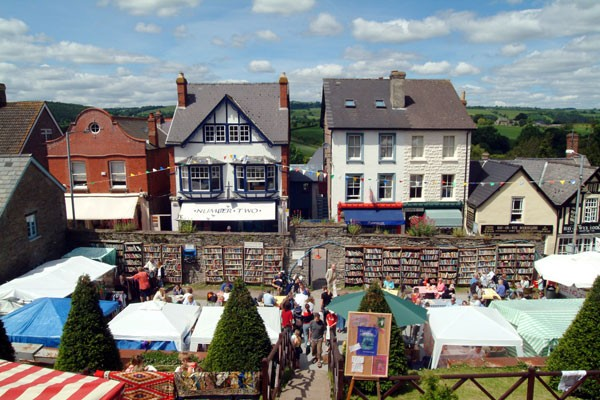 The book festival at Hay-on-Wye, Wales