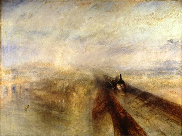 JMW Turner Rain, Steam, and Speed - The Great Western Railway 1844 support: 910 x 1218 mm Oil paint on canvas The National Gallery, London