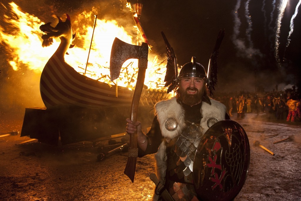 A toasty warm viking at Up Helly Aa