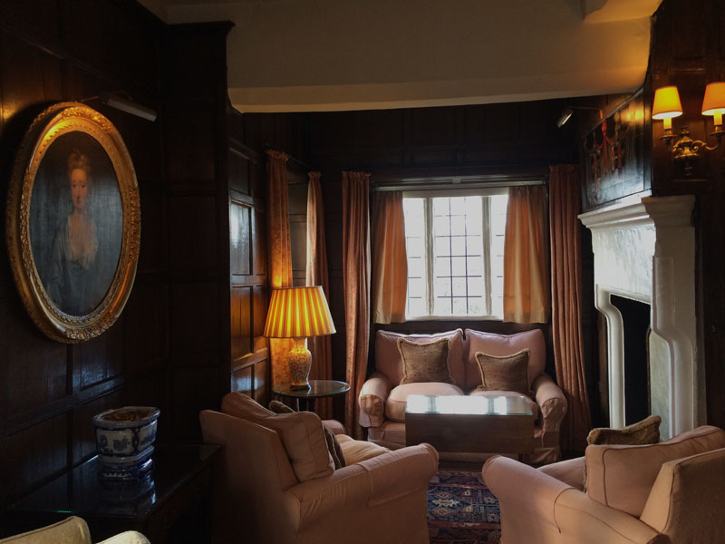 Cosy nook in Bodysgallen Hall, a Welsh Rarebits hotel in Wales