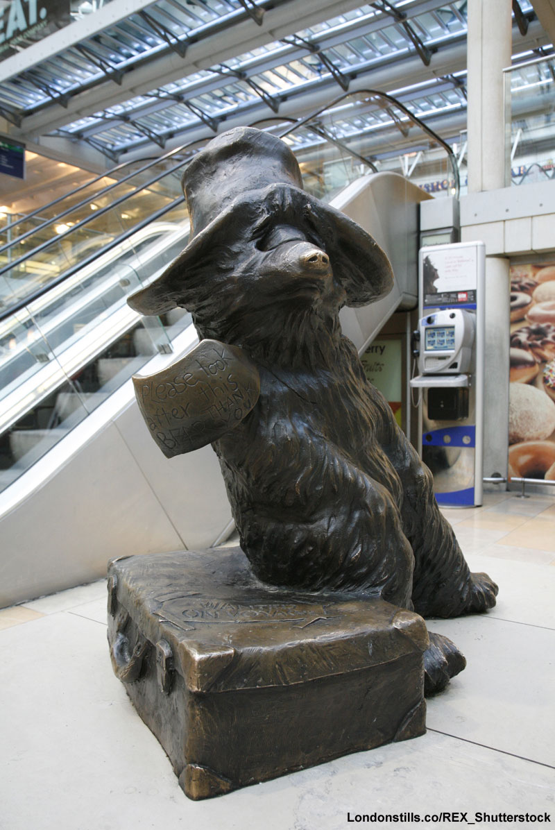 Paddington statue, Paddington station, London