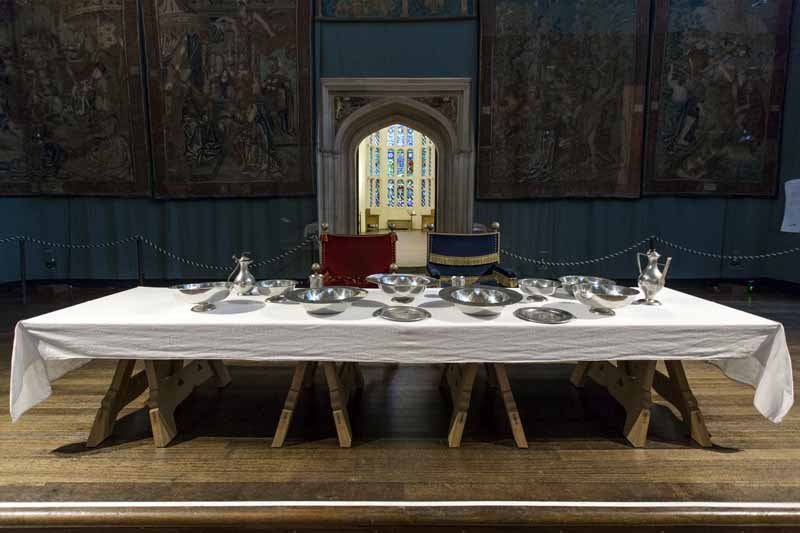 Table in the Great Hall, Hampton Court Palace