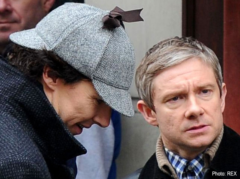Benedict Cumberbatch and Martin Freeman in a still from Sherlock
