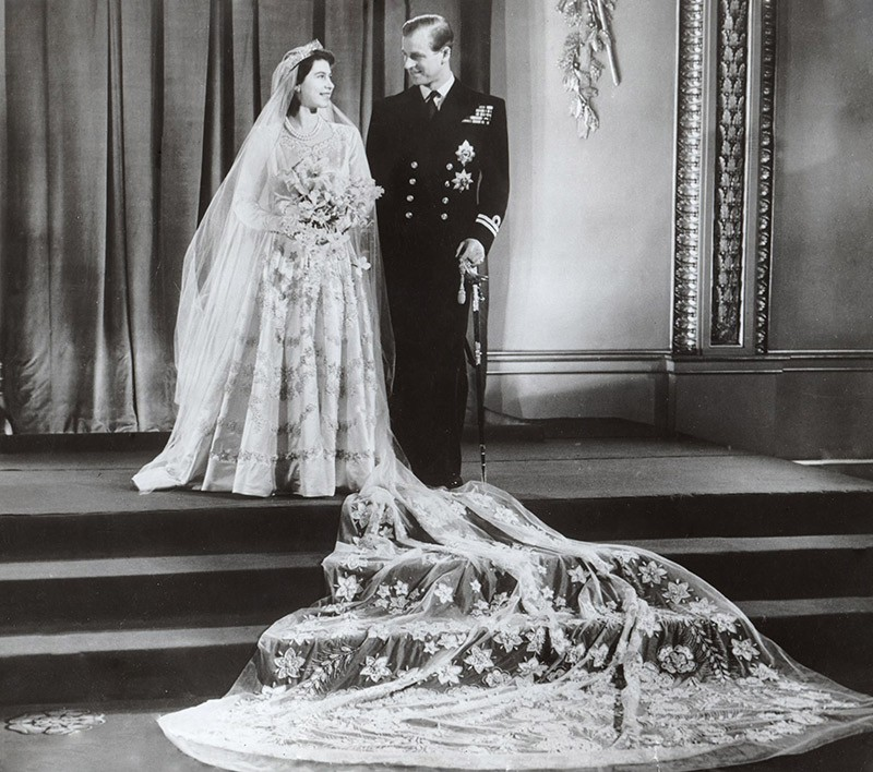 Portrait of the then Princess Elizabeth and Prince Philip after their Wedding On 20 November 1947 Image: Associated Newspapers / Daily Mail /REX