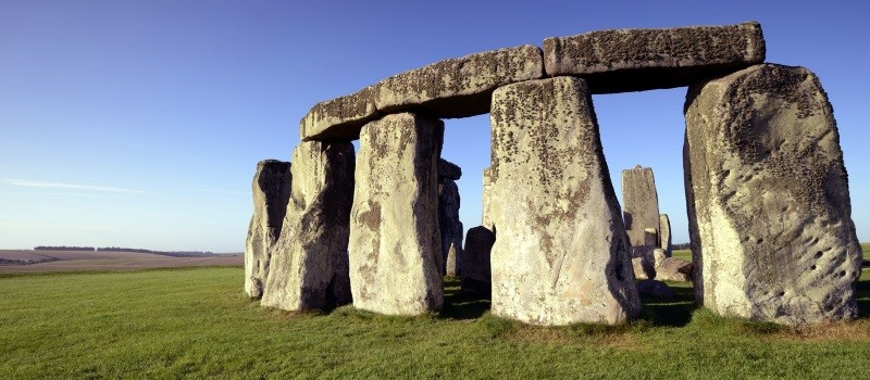 DescriptionStonehenge is a large henge or stone circle in Wiltshire, and an internationally recognised travel destination. Huge standing stones were dragged to the site and placed in the landscape in the era 2,500 BC. It is a UNESCO world heritage site.